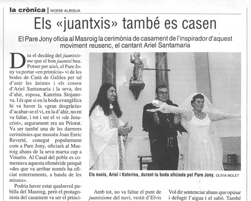 """Els """"juantxis"""" també es casen"""
