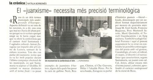 Recull de premsa. 28 d'abril de 2004. El Punt.
