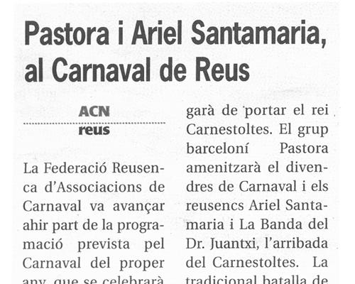 Recull de premsa. 15 de desembre de 2004. Més Tarragona.