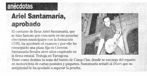 Ariel Santamaria, aprobado