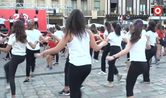 Un moment de la Flashmob a Reus el 28-9-2018