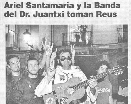 Ariel Santamaria y la Banda del Dr. Juantxi toman Reus