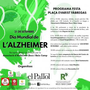 Cartell de les activitats del Dia Mundial de l'Alzheimer reus