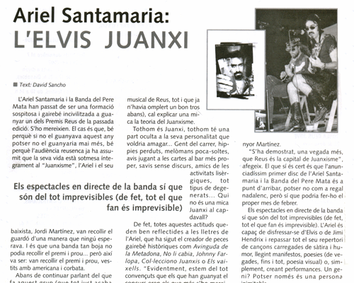 Ariel Santamaria: l'Elvis juantxi