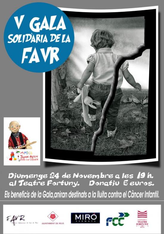 Cartell de l'acte al Teatre Fortuny de Reus organitzat per la FAVR