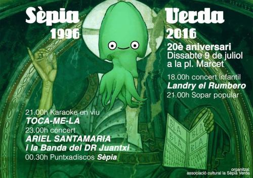 Concert per a la Sèpia Verda, de Sabadell, 2016