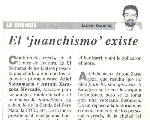 Recull de premsa. 29 d'abril de 2004. Diari de Reus.