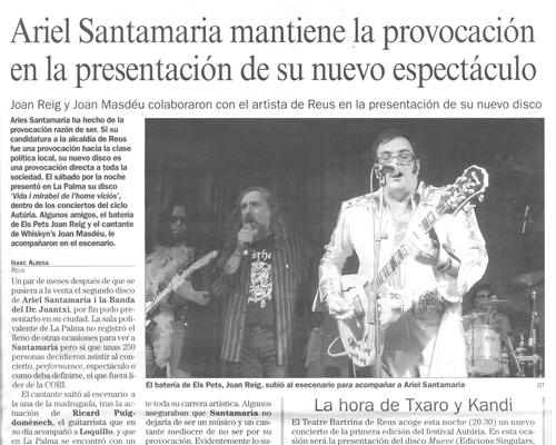 Ariel Santamaria mantiene la provocación en la presentación de su nuevo espectáculo