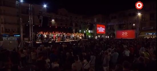 El vintè aniversari de Canal Reus TV omple de festa el Mercadal