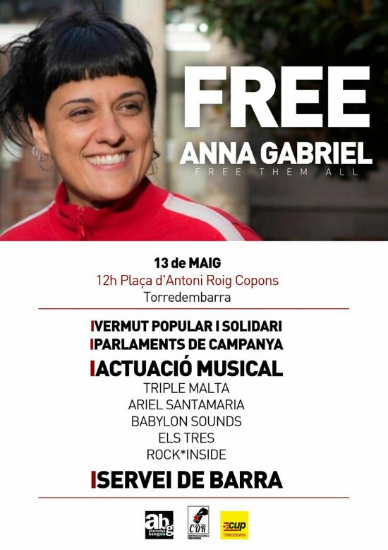 Concert en solidaritat amb Anna Gabriel