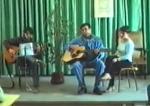 Ariel Santamaria, Coia Larriba i David Vidal en concert