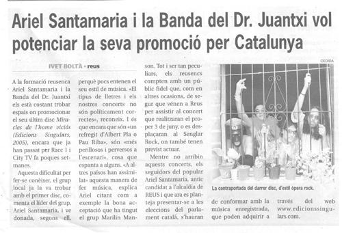 Ariel Santamaria i la Banda del Dr. Juantxi vol potenciar la seva promoció per Catalunya